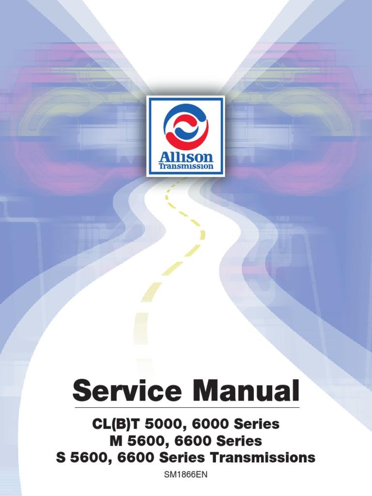 Allison Autmoatic Service Manuals Inncom E528 Wiring Diagram Room Array 5 U00266000 Manual Sm1866en 199904 Transmission Rh Scribd Com