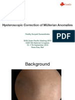 Hysteroscopic Correction of Muellerian Anomalies