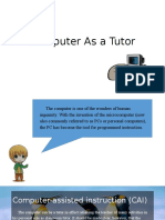 Computer as a Tutor