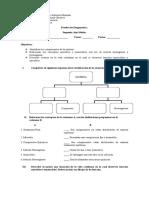 Prueba de Diagnostico Segundo Medio Química.