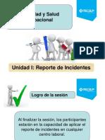 2016-II PPT - Plan de Clase Unidad I - Reporte de Incidentes
