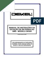 MANUAL DE INSTRUÇÕES DA ESTAÇÃO DE RETRABALHO SMD - MODELO DK850