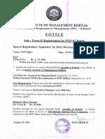 Term II Registration Notice Batch 07