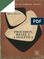 Menezes, Djacir. Proudhon, Hegel e a Dialética
