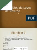 Ejercicios de Leyes de Newton