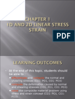 CHAPTER 1- 1D AND 2D LINEAR STRESS STRAIN  (BASIC SOLID MECHANICS)