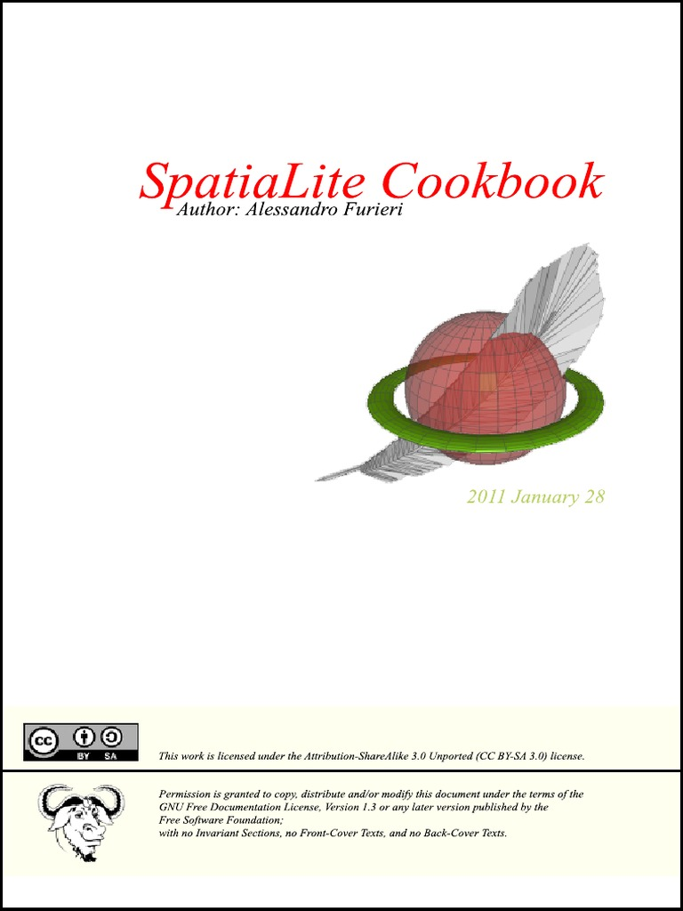 SpatiaLite Cookbook | Sql | Databases