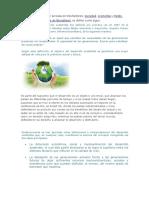 El Desarrollo Sostenible Se Basa en Tres Factores