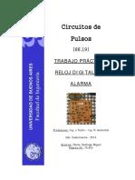 Circuitos de Pulsos-Reloj Digital Con Alarma