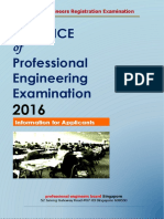 Practice of Professional Engineering Examination 2016