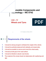 Automobile Unit-4.Wheels & Tyres