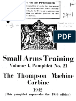 Tommy Gun Small Arms Training Volume I. No. 21 The Thompson Machine Carbine