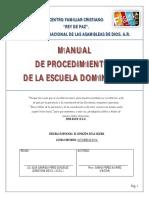 Manual Operativo ESCUELA DOMINICAL