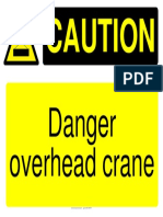 caution lifting sign