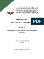 Assignment Environmental Engineering