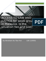 Access to Law and Justice by Weak Groups by Abraham Au Tian Hui