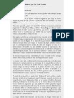 Nuevas cuestiones lingüísticas-Pasolini (trad. Esteban Nicotra)