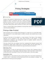 Managerial Economics Pricing Strategies