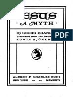 Georg Brandes Jesus, A Myth
