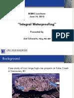 Integral Waterproofing Presentation (Joel Schwartz)