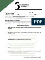 FS 5 - Activity 6 On Scoring Rubrics