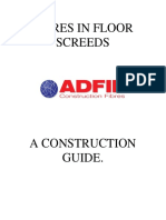 Fibres in Floor Screeds - Construction Guide - Sm