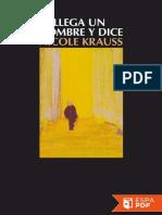 Llega Un Hombre y Dice - Nicole Krauss