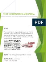 text information and media