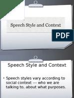 Types of Speech Style
