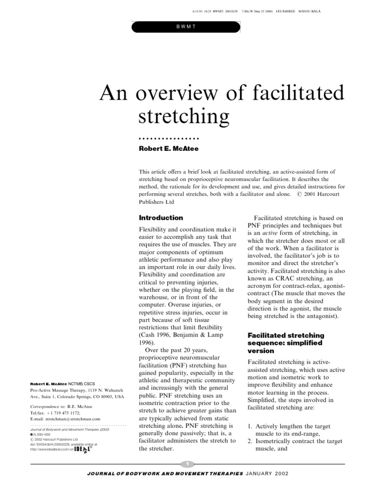 An Overview Of Facilitated Stretching