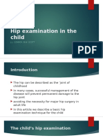 Hip Examination in the Child