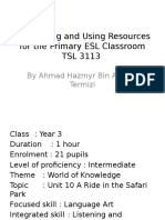 Developing and Using Resources for the Primary ESL
