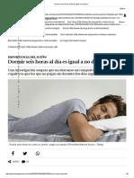 Dormir Seis Horas Al Día Es Igual a No Dormir