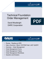 Technical Foundation - Order Management
