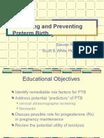 Prevent Predict Preterm Birth 2004