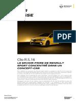 Renault dossier de presse Clio RS 16