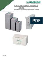 Manualul Bateriei Hoppecke VRLA GEL