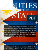 Duties of the State