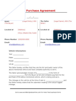 Car Purchase Agreement Template.doc