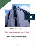 Most of Cardiac Care Unit (C.C.U) Drugs