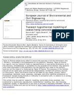 Higrotermal Monitoring-hemp Concrete