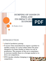 Dumping of Goods in India