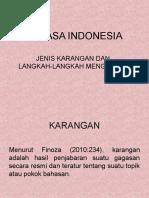 Jenis-Jenis Karangan Bahasa Indonesia