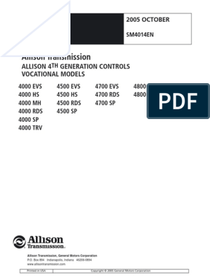 4K Service Manual 4th Gen SM4014EN 200510 | Transmission (Mechanics