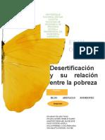 Desertificación y Su Relación Entre La Pobreza
