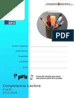 MODELO- 2015 - 3EP -Producción Escrita