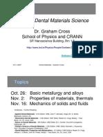 Dental Materials Lecture - Mechanical Properties