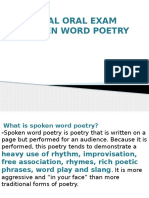 Spoken Word Poetry Guidelines