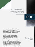 10-Pengertian dan Jenis Kredit Bank-20141201.ppt