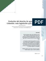 Evolución del derecho de aguas en Colombia, más legislación que eficacia.pdf